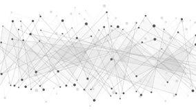 Géométrique abstrait Triangles reliées gris-foncé sur un fond blanc Web de plexus Grandes données Conception polygonale moderne Image libre de droits