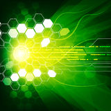 Géométrique et lignes fond abstrait de couleur verte Photos stock