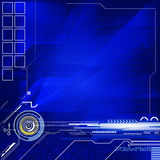 Géométrique et lignes fond bleu abstrait de couleur Image libre de droits