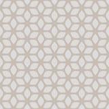 Or géométrique floral sans couture décoratif et fond beige de modèle image stock
