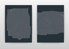 Géométrique a ondulé le design d'entreprise pointillé pour le rapport annuel, brochure, insecte, affiche Vecteur pointillé ondulé illustration de vecteur