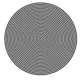 GÉOMÉTRIQUE RÉGULIER DE BASIC Éléments graphiques LIGNES PARALLÈLES AVEC LE CERCLE illustration de vecteur