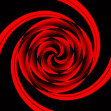Géométrique rouge de vertige Photo libre de droits