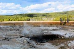 Géothermique de parc national de Yellowstone beau image libre de droits