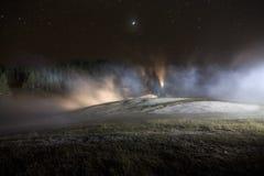 Géothermique peint avec la lumière Photos stock