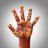 Gérmenes de la mano Fotografía de archivo