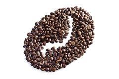 Gérmenes del café como símbolo de la forma Imagen de archivo