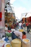 Gérmenes y materia textil del mercado Imagen de archivo libre de regalías