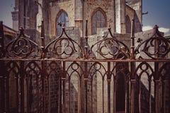 GÉRONE, ESPAGNE - MAI 2016 : Vue de Gérone - cathédrale gothique dans G Image stock