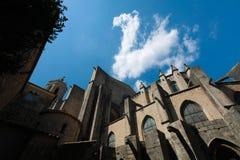 GÉRONE, ESPAGNE - MAI 2016 : Vue de Gérone - cathédrale gothique dans G Image libre de droits