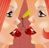 Gêmeos ilustração stock