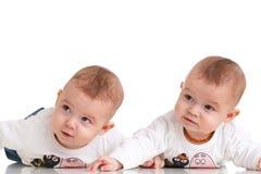 Gêmeos adoráveis fotografia de stock royalty free
