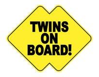 Gêmeos a bordo Imagens de Stock