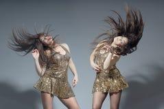 Gêmeos da dança Foto de Stock Royalty Free