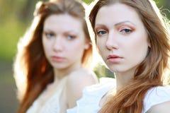Gêmeos da mulher Foto de Stock Royalty Free