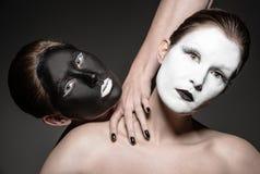 Gêmeos de Yin yang Fotografia de Stock