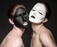 Gêmeos de Yin yang Imagens de Stock