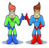 Gêmeos do super-herói Fotos de Stock Royalty Free