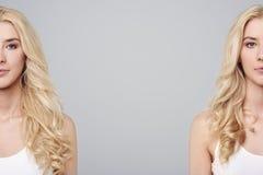 Gêmeos no estúdio Imagens de Stock Royalty Free