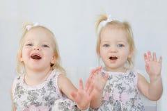 Gêmeos que têm o divertimento Imagem de Stock Royalty Free
