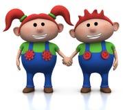 Gêmeos Red-haired Imagem de Stock