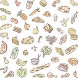 Gêneros alimentícios ilustração royalty free