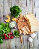 Gêneros alimentícios para sanduíches Foto de Stock Royalty Free