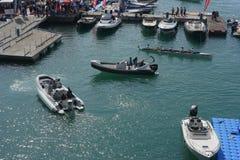 Gênes : cinquante-septième salon nautique Photo libre de droits