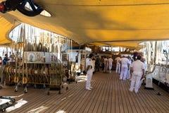 Gênes, Italie : Le 10 juin 2016 ; Bateau de la Marine italien, Amerigo Vespucci Photos stock