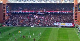 Gênes-Juventus Photo libre de droits