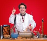 Gênio no laboratório Foto de Stock
