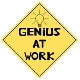 Gênio no trabalho ilustração stock
