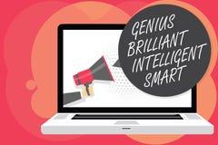 Gênio Smart inteligente brilhante do texto da escrita da palavra Conceito do negócio para o homem brilhante inteligente da inteli ilustração royalty free