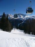 Góndola de la elevación de esquí foto de archivo libre de regalías