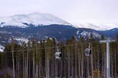 Góndola de la estación de esquí Imagen de archivo libre de regalías