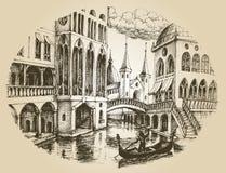 Góndola de Venecia ilustración del vector