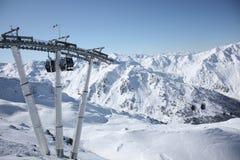 Góndola del esquí Fotografía de archivo libre de regalías