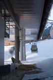 Góndola en una estación de esquí Fotos de archivo