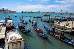 Góndola en Venecia, Italia Imágenes de archivo libres de regalías