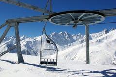 Góndola vacía del esquí Fotos de archivo