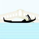 Góndola Venecia stock de ilustración