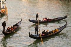 Góndolas de Venecia Fotos de archivo libres de regalías
