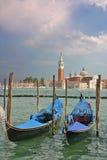 Góndolas del Piazzetta di San Marco en Venecia Fotografía de archivo libre de regalías