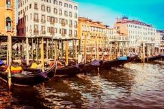 Góndolas en la plaza San Marco, Venecia foto de archivo libre de regalías
