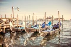 Góndolas en la plaza San Marco, Venecia fotos de archivo libres de regalías