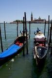 Góndolas en Venecia imagen de archivo libre de regalías