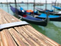 Góndolas en Venecia fotografía de archivo libre de regalías