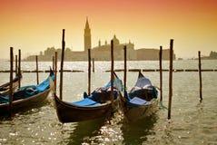 Góndolas en Venecia Foto de archivo libre de regalías