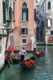 Góndolas en Venecia Fotos de archivo