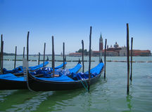 Góndolas en Venecia Imágenes de archivo libres de regalías